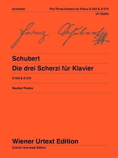 Franz Schubert: The three Scherzi for piano D 593/1-2, D 570