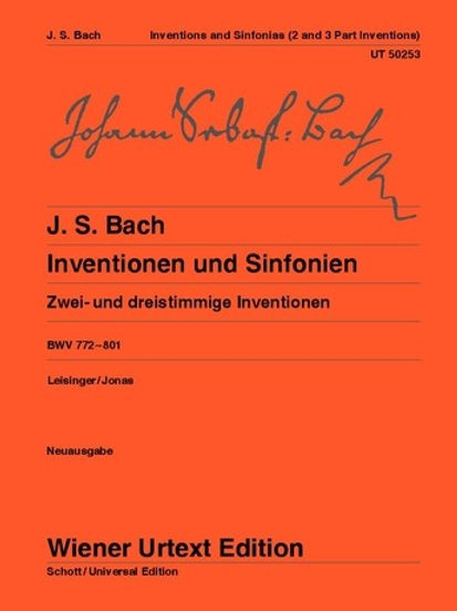 Johann Sebastian Bach: Inventions and Symphonies for piano BWV 772-801