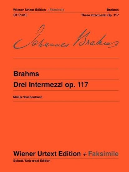 Johannes Brahms: Three Intermezzi for piano op. 117