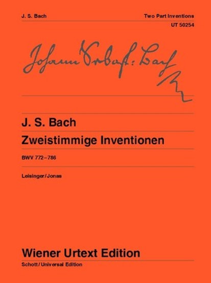 Johann Sebastian Bach: Two Part Inventions for piano