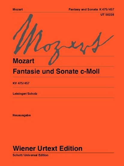 Wolfgang Amadeus Mozart: Fantasia and Sonata - C minor for piano KV 475, KV 457