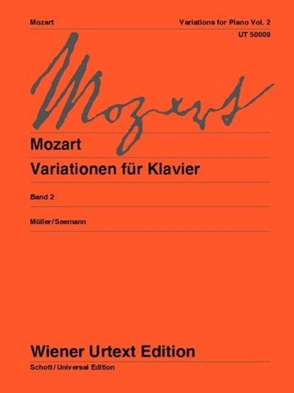 Wolfgang Amadeus Mozart: Variations for piano