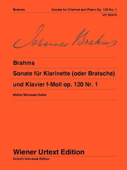Johannes Brahms: Sonata - F minor for clarinet or viola and piano op. 120/1