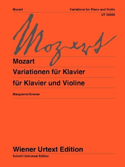 Wolfgang Amadeus Mozart: Variations for violin and piano