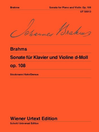 Johannes Brahms: Sonata - D minor for violin and piano op. 108