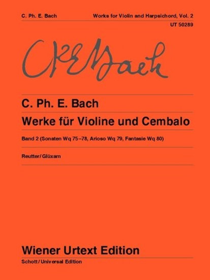 Carl Philipp Emanuel Bach: Works for violin and harpsichord