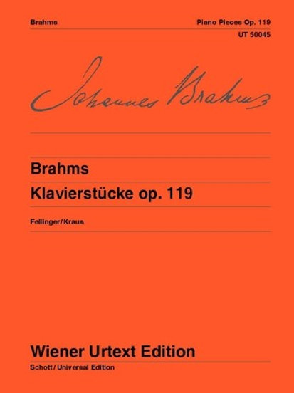 Johannes Brahms: Piano Pieces for piano op. 119