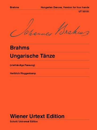 Johannes Brahms: Hungarian Dances for piano 4 hands WoO1 McCorkle