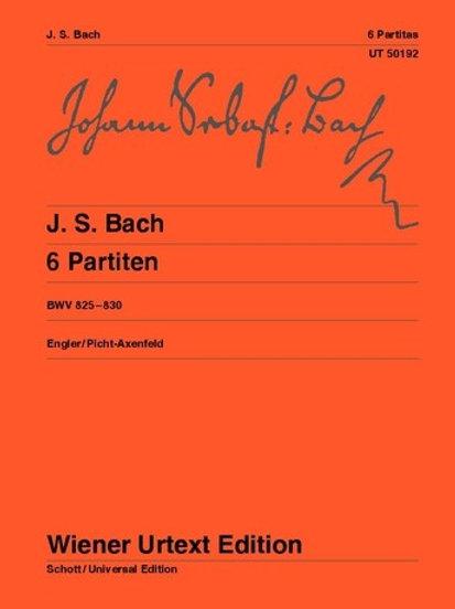 Johann Sebastian Bach: 6 Partitas for piano BWV 825�V830