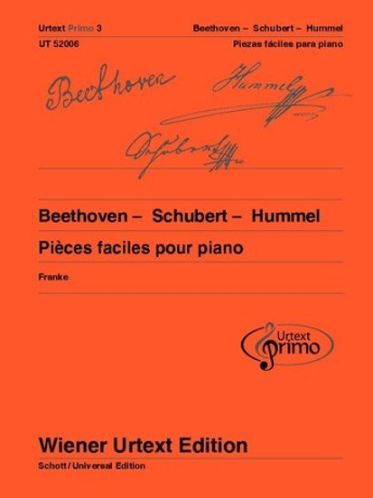 Ludwig van Beethoven: Urtext Primo Volumen 3 for piano