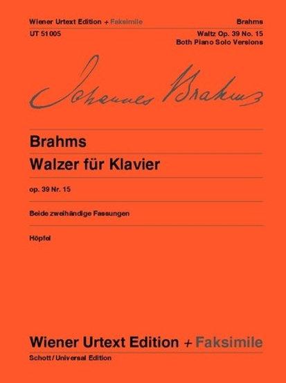 Johannes Brahms: Waltzes for piano op. 39/15