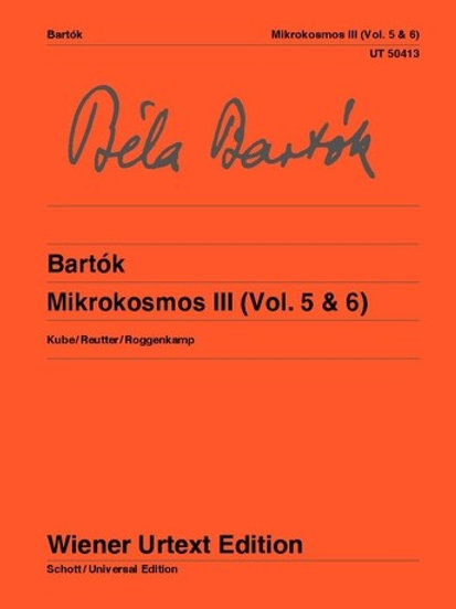 B?la Bart?k: Mikrokosmos for piano