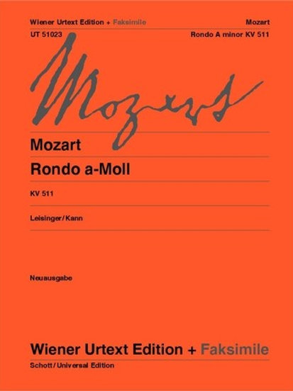 Wolfgang Amadeus Mozart: Rondo for piano