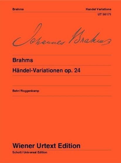 Johannes Brahms: Handel Variations for piano op. 24