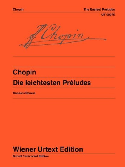 Fr?d?ric Chopin: The Easiest Preludes for piano op. 28/4, 6, 7, 9, 15, 20