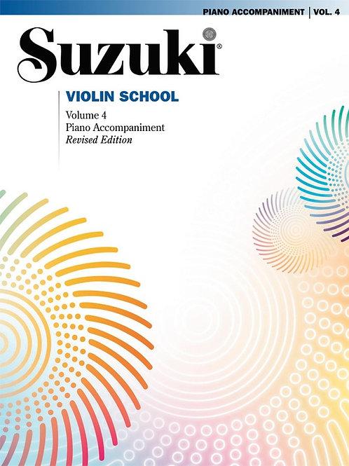 Suzuki Violin School Piano Acc., Volume 4 (Revised)