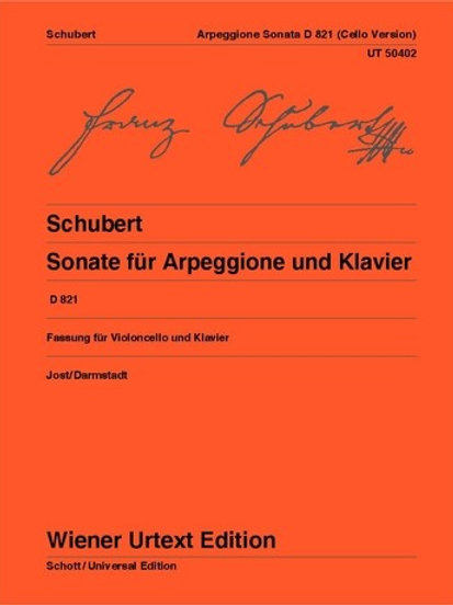 Franz Schubert: Sonata for Arpeggione and Piano for cello and piano op. posth. D