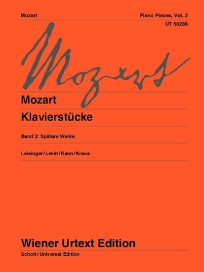 Wolfgang Amadeus Mozart: Piano Pieces for piano
