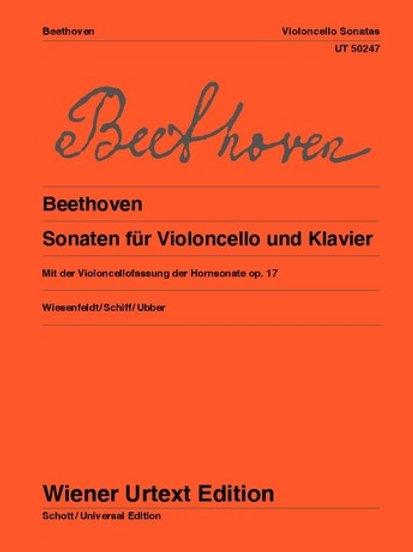 Ludwig van Beethoven: Violoncello Sonatas for violoncello and piano