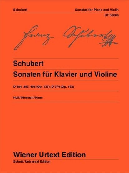 Franz Schubert: Sonatas for violin and piano