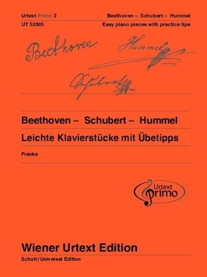 Ludwig van Beethoven: Urtext Primo Volume 3 for piano