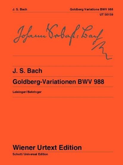 Johann Sebastian Bach: Goldberg Variations for piano BWV 988