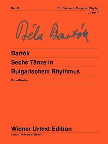 B?la Bart?k: 6 Dances in Bulgarian Rhythm for piano