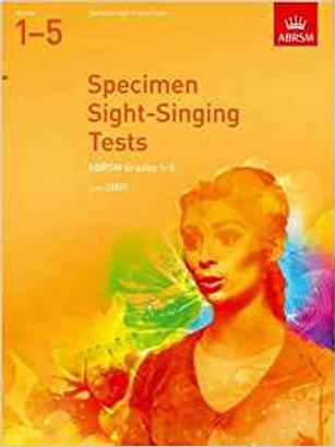 ABRSM: Specimen Sight-Singing Tests, Grades 1�V5