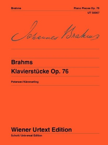 Johannes Brahms: Piano Pieces for piano op. 76