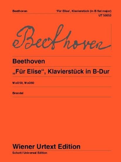 Ludwig van Beethoven: F?r Elise for piano WoO 59, 60