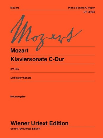 "Wolfgang Amadeus Mozart: Piano Sonata ""Facile Sonata"" - C major for piano KV 54"