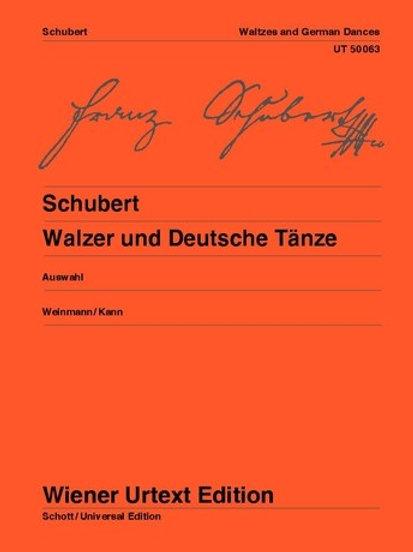 Franz Schubert: Waltzes and German Dances for piano