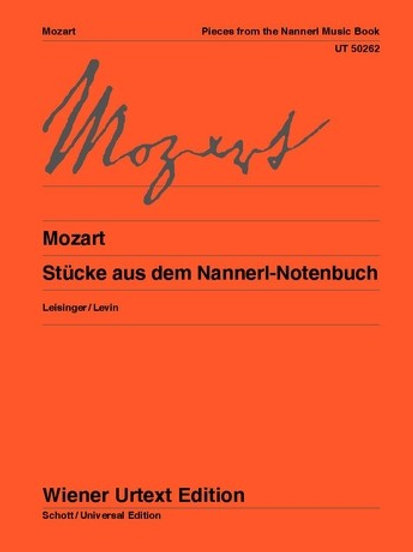 Wolfgang Amadeus Mozart: Pieces from the Nannerl Music Book for piano