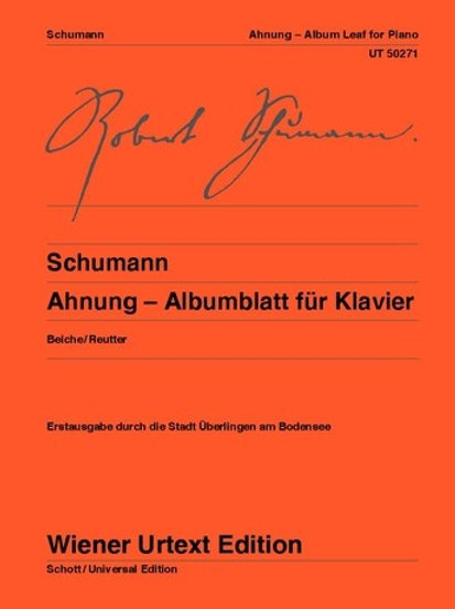 Robert Schumann: Ahnung - Albumblatt for piano