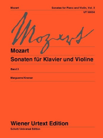 Wolfgang Amadeus Mozart: Sonatas for violin and piano