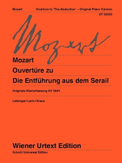 """Wolfgang Amadeus Mozart: Overture to """"The Abduction"""" for piano"""