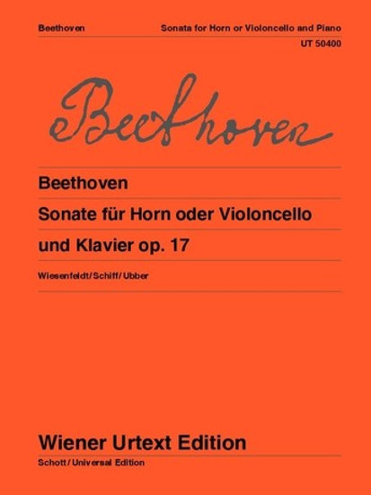 Ludwig van Beethoven: Sonata - F major for horn or cello and piano