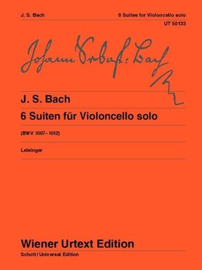 Johann Sebastian Bach: Suites for violoncello solo BWV 1007�V1012