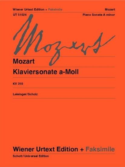Wolfgang Amadeus Mozart: Piano Sonata for piano