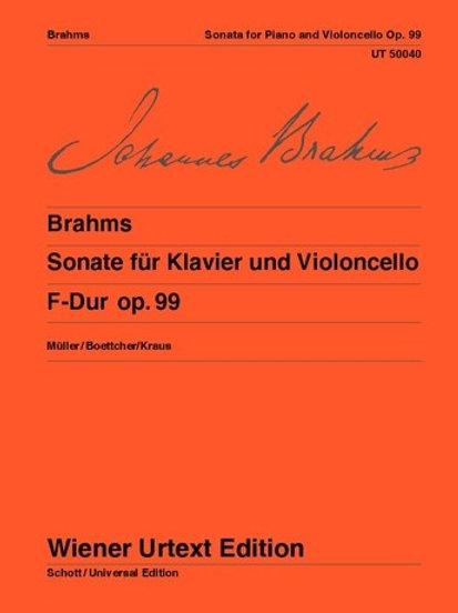 Johannes Brahms: Sonata - F major for violoncello and piano op. 99