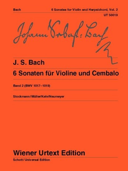 Johann Sebastian Bach: 6 Sonatas for violin and harpsichord BWV 1017-1019