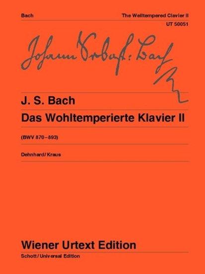 Johann Sebastian Bach: The Well Tempered Clavier for piano