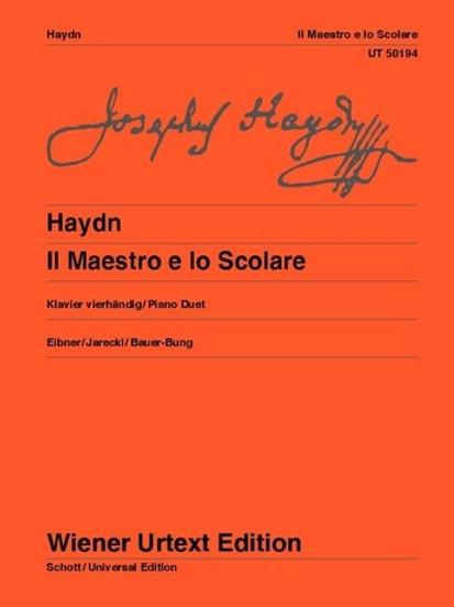 Joseph Haydn: Il Maestro e lo Scolare for piano four hands Hob. XVIIa:1