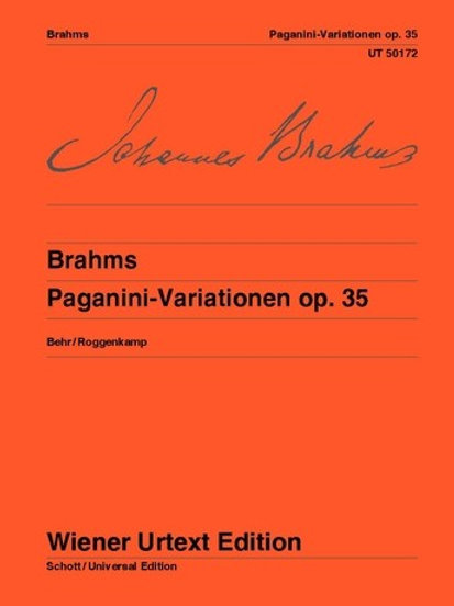 Johannes Brahms: Paganini Variations for piano op. 35