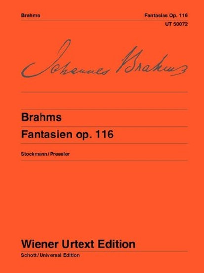Johannes Brahms: Fantasies for piano op. 116