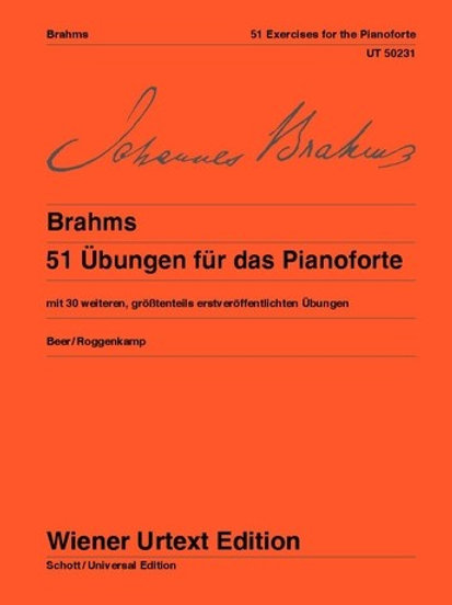 Johannes Brahms: 51 Exercises for the Piano for piano WoO 6