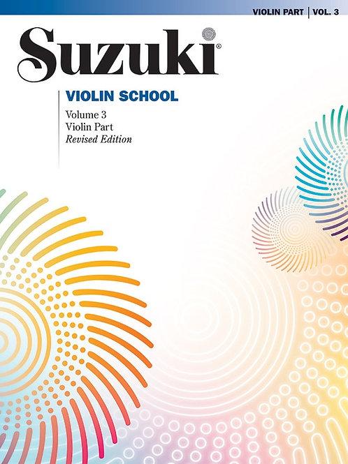 Suzuki Violin School Violin Part, Volume 3 (Revised)