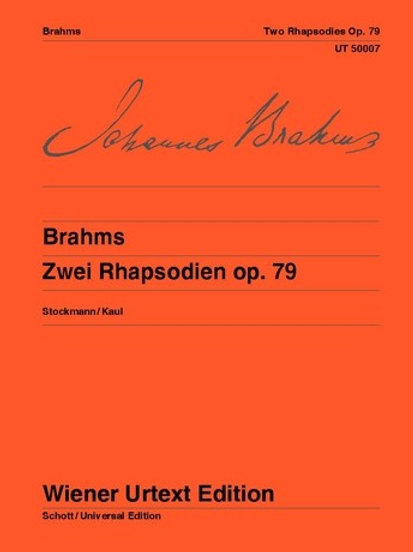 Johannes Brahms: 2 Rhapsodies for piano op. 79