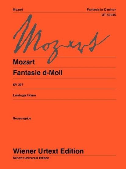 Wolfgang Amadeus Mozart: Fantasie for piano
