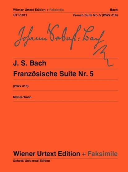 Johann Sebastian Bach: French Suite No.5 - G major for piano BWV 816
